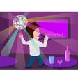 Man singing at the karaoke bar vector image vector image