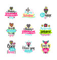 calligraphy with decor elements vector image vector image