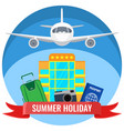 summer holiday posters with travelling accessories vector image