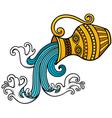 Aquarius zodiac vector image