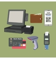 Payment flat icon set vector image