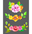 Watercolor flowers set vector