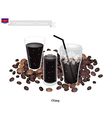 Oliang or Cambodian Black Coffee with Ice vector image