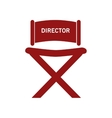 director chair  over white vector image