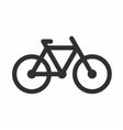 icon of bicycle vector image
