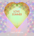 Abstract summer time infographic love and take a b vector image