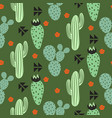 cactus plant seamless pattern abstract vector image
