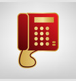 communication or phone sign red icon on vector image