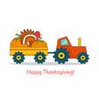 happy thanksgiving festive flat concept vector image