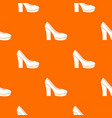 high heel shoes pattern seamless vector image