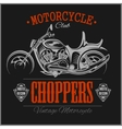 Motorcycle Chopper logo vintage garage vector image