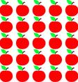 Seamless Apple Texture Autumn Fruit Background vector image