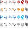 Set of modern emblems vector image