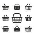 Shopping basket icon set vector image