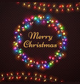 xmas abstract card with christmas lights vector image