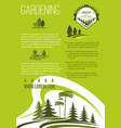 poster of landscape or gardening company vector image