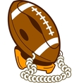 Classic Football Phone vector image vector image