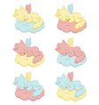 Cute sleeping angel-cats vector image vector image