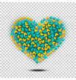 butterflies heart isolated vector image