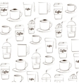 coffee background silhouette vector image