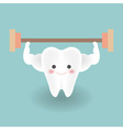 cute smiley strong white teeth feels happy while vector image