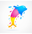 dolphin colored cmyk print splash vector image