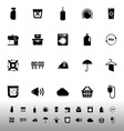 Laundry related icons on white background vector image