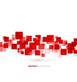 Red shiny squares technical background vector image