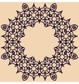 Rosette ornament vector image