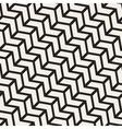 Seamless Black And White Chevron Line vector image
