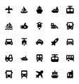 Transportation Icons 2 vector image
