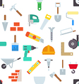Construction pattern stickers vector image