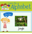 Flashcard letter J is for jungle vector image