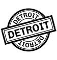 Detroit rubber stamp vector image