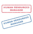 human resources manager textile stamps vector image
