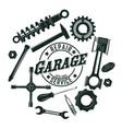 monochrome vintage garage tools round concept vector image
