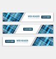 abstract banners for web header with button vector image