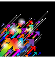 Abstract colored gradient background vector image