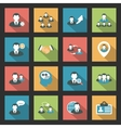 Interaction icons set vector image