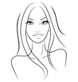 beautiful girl in fashion style vector image
