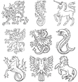 heraldic monsters vol i vector image
