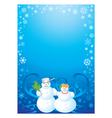 frame snowman vector image vector image
