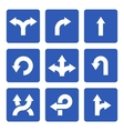 Blue Signs with Arrows Set vector image vector image