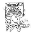 Autumn sale shopping banner vector image
