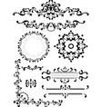Decorative corner border frame vector image