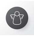 christmas angel icon symbol premium quality vector image