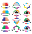 Collection Set of retro vintage badges vector image