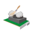 Computer cleaning icon cartoon style vector image