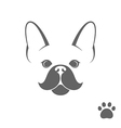 French bulldog Funny dog with paw print vector image