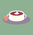sweet dessert in flat design bread-soup with dried vector image